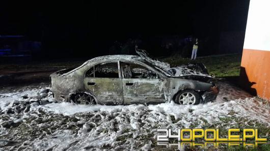 Pożar samochodu osobowego w Tarnowcu