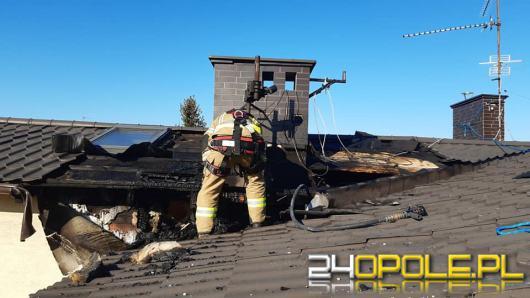 Pożar poddasza w domu jednorodzinnym w Prudniku