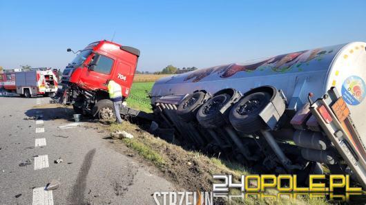 Poważny wypadek w powiecie nyskim. Lądował LPR