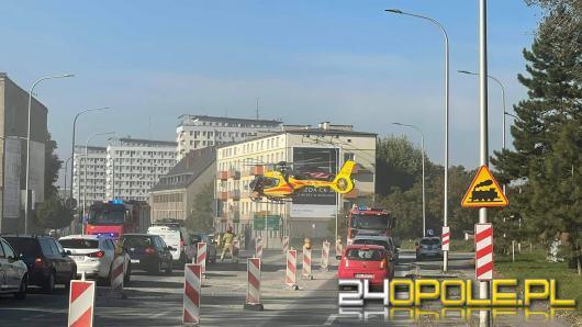 Śmigłowiec LPR lądował na ulicy Nysy Łużyckiej w Opolu