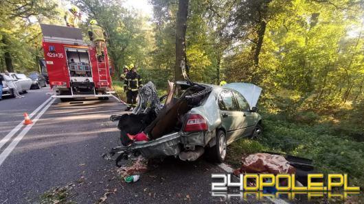 Wypadek w gminie Polska Cerekiew. Doszło do zderzenia osobówki i ciężarówki