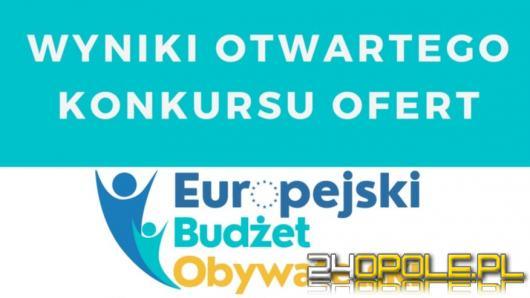 Rozstrzygnięto pierwszy etap konkursu w Europejskim Budżecie Obywatelskim