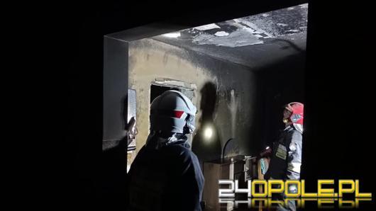 Pożar w budynku jednorodzinnym w powiecie namysłowskim