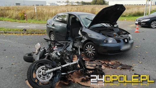 Wypadek na Północnej w Opolu. Nieprzytomny motocyklista w szpitalu