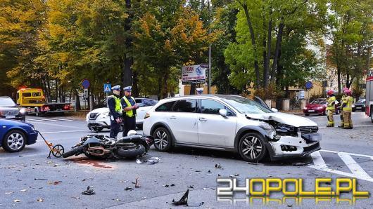 Motocyklista ucierpiał w wypadku w Kluczborku