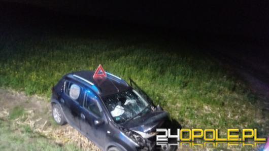 Trasa Domaszkowice-Niwnica: Samochód osobowy uderzył w betonowy przepust
