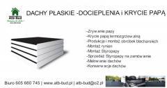 Dachy papowe  | Dachy styropapa | Dachy płaskie |Opole | Opolskie
